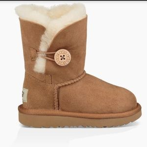 Ugg Bailey Button Boots Brown Girls Size 13